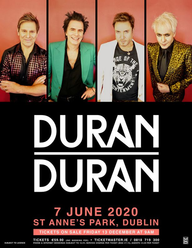 Bus to Duran Duran in St Annes Park Dublin by Martleys of Portlaoise